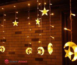 فروش عمده ریسه تزئینی طرح ماه و ستاره