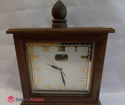 فروش عمده ساعت رومیزی چوبی مربع