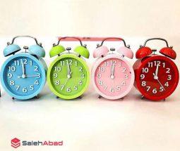 فروش عمده ساعت زنگ دار رنگی رومیزی