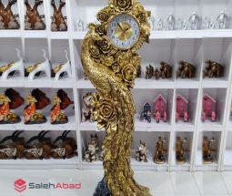 فروش عمده ساعت ایستاده طرح طاووس