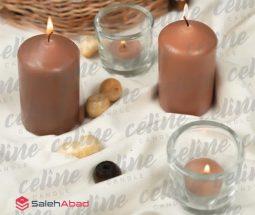 فروش عمده شمع استوانه ساده رنگی