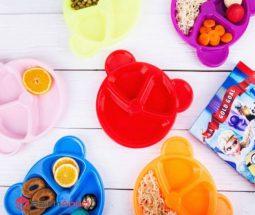 فروش عمده ظرف غذاخوری کودک طرح خرس