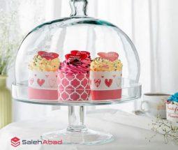 فروش عمده ظرف کیک پایه دار بلور