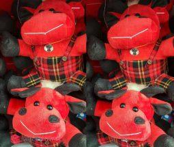فروش عمده عروسک گاو پولیشی قرمز