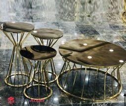 فروش عمده میز جلو مبلی و عسلی فلزی