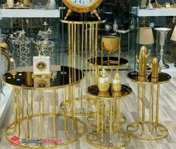 فروش عمده ست میز عسلی مدل ستونی