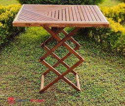 فروش عمده میز تاشو چوبی مسافرتی