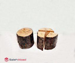 فروش عمده نمکدان چوبی طرح تنه درخت