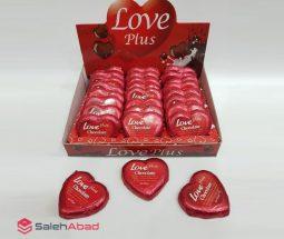 فروش عمده شکلات کاکائو قلبی قرمز