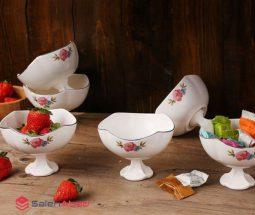 فروش عمده سرویس بستنی خوری گلدار