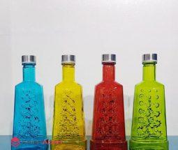 فروش عمده بطری آب شیشه ای رنگی