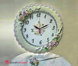 فروش عمده ساعت دیواری گلدار رزین