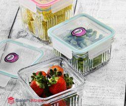 فروش عمده ظرف غذا شیشه ای مربعی