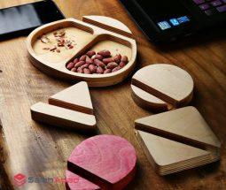 فروش عمده هولدر رومیزی موبایل چوبی