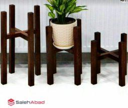 فروش عمده پایه گلدان چوبی دکوری