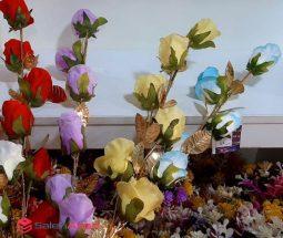 فروش عمده شاخه گل رز ۶ تایی
