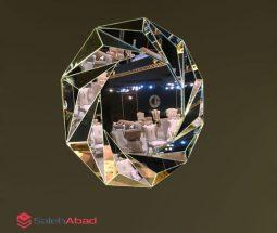 فروش عمده آینه دیواری گرد مدل آینه ای