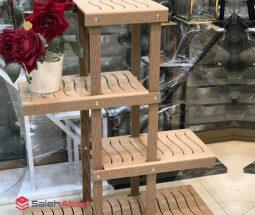 فروش عمده استند گلدان ۴ طبقه چوبی
