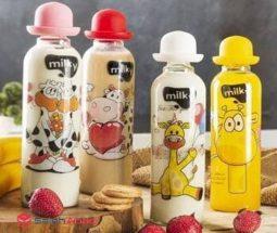 فروش عمده بطری شیر فانتزی تن تن