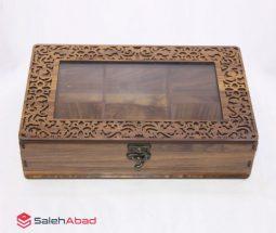 فروش عمده باکس تی بگ ۶ خانه چوبی