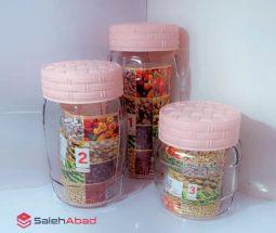 فروش عمده ظرف جا حبوباتی ۳ سایزی