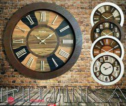 فروش عمده ساعت دیواری گرد چوبی فوجیکا