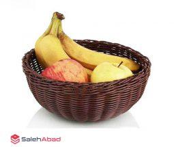 فروش عمده سبد حصیری میوه خوری گرد