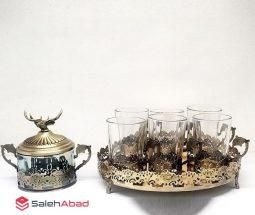 فروش عمده ست چای خوری انگاره طلایی