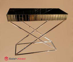 فروش عمده میز کنسول پایه استیل آینه ای