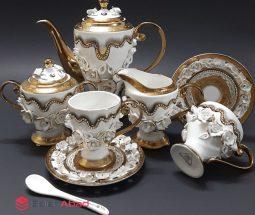 فروش عمده سرویس چای خوری گل برجسته