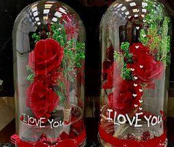 فروش عمده گل مصنوعی داخل شیشه