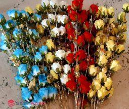 فروش عمده گل رز شاخه ای ۵ گل