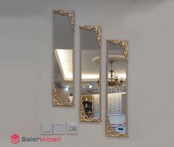 فروش عمده ست آینه دکوری طرح گل برجسته
