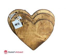 فروش عمده تخته سرو چوبی طرح قلب