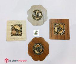 فروش عمده زیر قابلمهای چوبی مربع