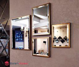 فروش عمده ست آینه دکوراتیو مستطیل ۴ تایی
