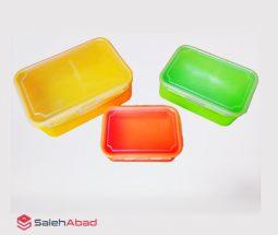 فروش عمده ست ظرف نگهدارنده رنگی ۳ تایی