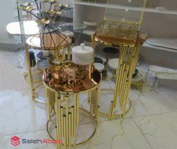 فروش عمده میز عسلی ۳ تایی پایه فلزی