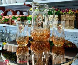 فروش عمده ست پارچ و لیوان گل رز
