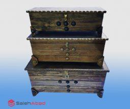 فروش عمده صندوقچه ۳ تکه چوبی کلاسیک