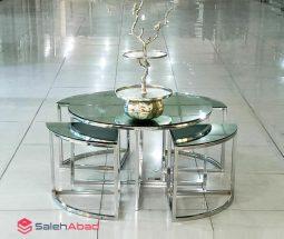 فروش عمده میز جلو مبلی با عسلی آینه ای