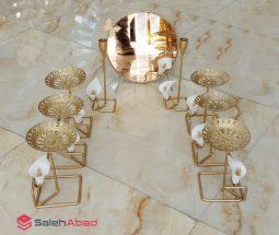 فروش عمده هفت سین فلزی طرح گلدار