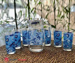 فروش عمده پارچ و لیوان لومینارک گلدار