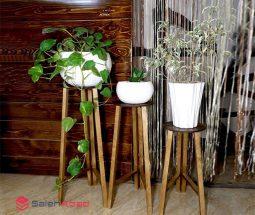 فروش عمده پایه گلدان سه تایی گرد