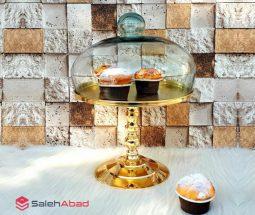 فروش عمده کیک خوری با پایه فلزی بلند