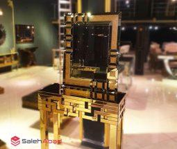 فروش عمده میز کنسول و آینه طلایی