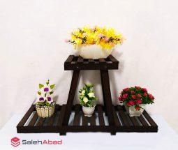 فروش عمده استند گلدان مدل هرمی ۲ طبقه