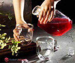 فروش عمده بطری و لیوان طرح دیاموند HELGA