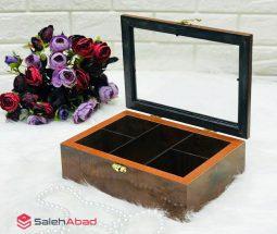 فروش عمده جعبه پذیرایی دمنوش چوبی