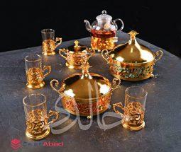 فروش عمده سرویس چای خوری انگاره طلائی